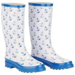 Gummistiefel Rainy Blau/Weiß