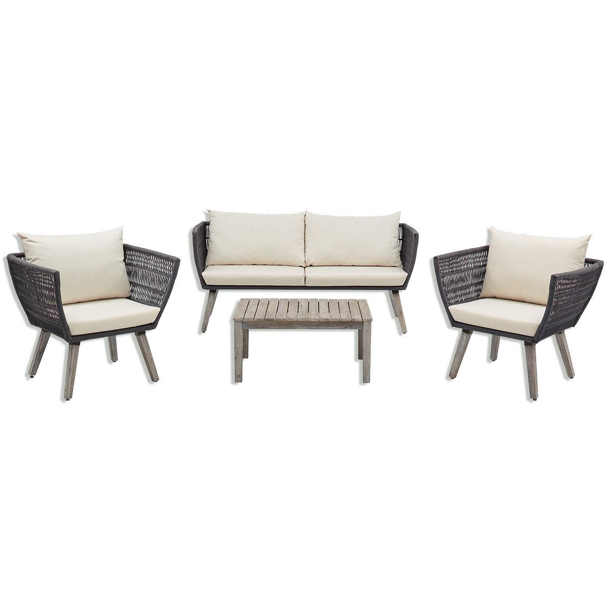 Bild 1 von Gardiola Lounge-Set SAMANA - grau - Akazie massiv