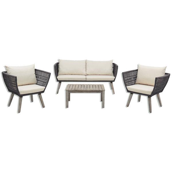 Gardiola Lounge-Set SAMANA - grau - Akazie massiv