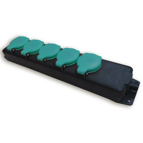 Garten-Steckdosenleiste - 5 Schutzkontaktsteckdosen