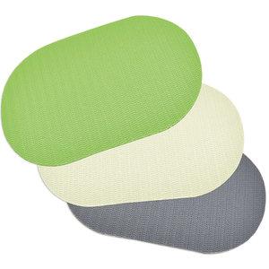 4er-Set Tischset - sortierte Farben - oval - 30x45 cm