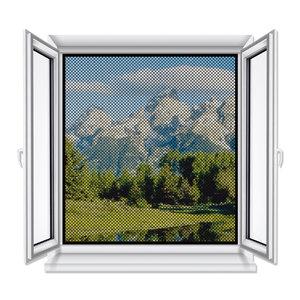 Gardiola Fliegengitter-Fenster - anthrazit - 150x130 cm