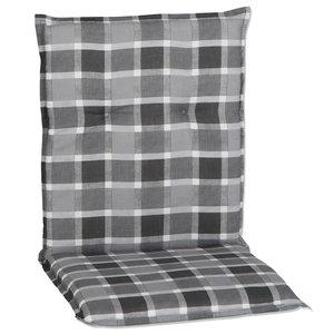Stuhlauflage ALMERIA - niedrig - grau-weiß - 50x98 cm