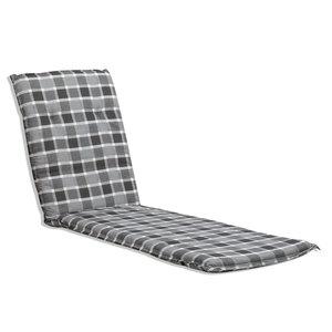 Liegenauflage ALMERIA - grau-weiß - 60x193 cm