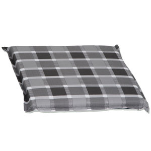 Sitzkissen ALMERIA - grau-weiß - 45x45 cm