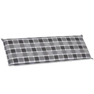 Bankauflage ALMERIA - grau-weiß - 38x112 cm