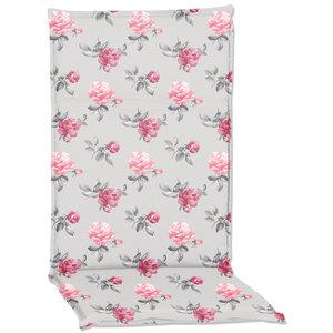 Gartenstuhlauflage PALO - grau-pink - Hochlehner