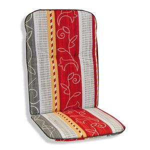 Sitzauflage Rücken hoch SEVILLA - rot-grau