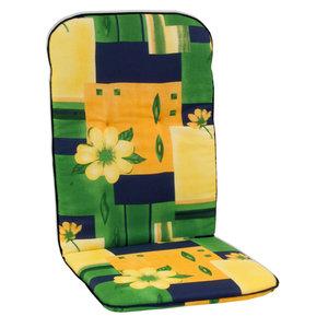 Sesselauflage Rücken hoch SEVILLA - grün-gelb