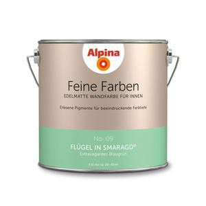 """Alpina              Feine Farben """"Flügel in Smaragd"""" 2,5 L"""