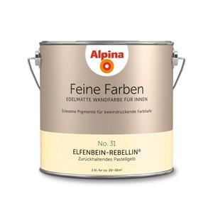 """Alpina              Feine Farben """"Elfenbein-Rebellin"""" 2,5 L"""
