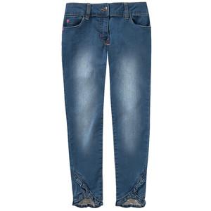 3/4 Mädchen Jeans mit Volant