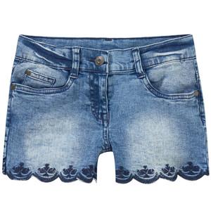 Mädchen Jeansshorts mit Stickereien