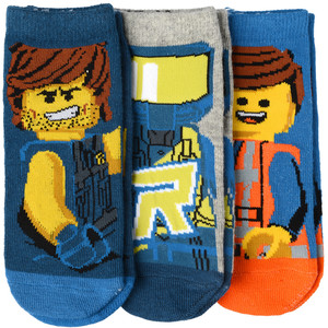 3 Paar The LEGO Movie Sneaker-Socken im Set
