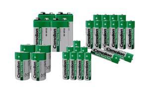 Zink-Kohle Batterie Sparset - 28-teilig Camelion