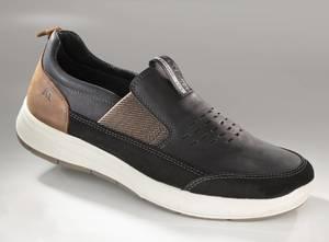 Slipper aus weichem Leder, schwarz
