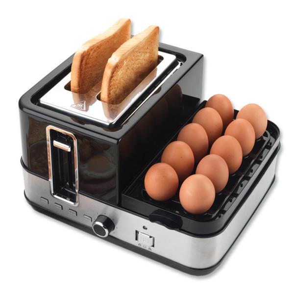 »PROGRESS« All-in-One Frühstücks-Station Toaster Eierkocher Pfanne