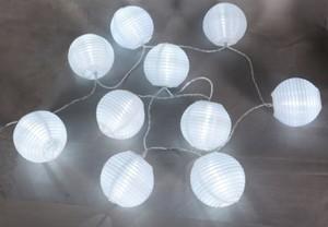 TrendLine Partylaternen, weiß ,  10 LED
