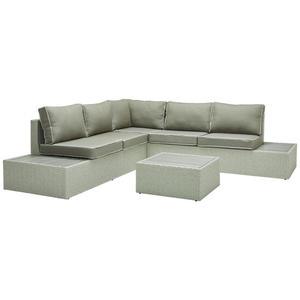 Ambia Garden LOUNGEGARNITUR Webstoff Polywood® Aluminium, Grau