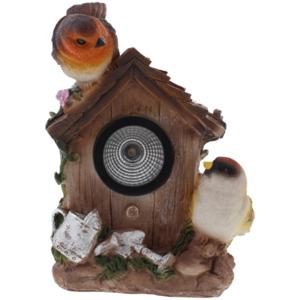 Vogelhaus mit Solarbeleuchtung