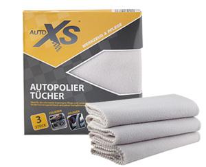 AUTO XS®  Autopolier-Tücher, 3 Stück