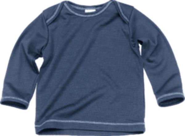 ALANA Baby Shirt, Gr. 74, in Bio Schurwolle, blau, für