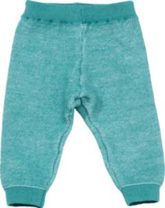 ALANA Baby-Strickhose, Gr. 62, in Bio-Baumwolle und Bio-Schurwolle, türkis, für Mädchen und Jungen
