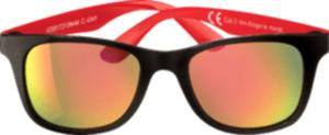 SUNDANCE Sonnenbrille für Kinder Front schwarz, Bügel rot