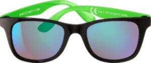 SUNDANCE Sonnenbrille für Kinder Front schwarz, Bügel grün