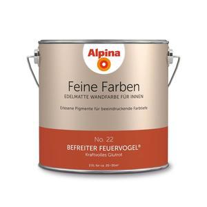 """Alpina              Feine Farben """"Befreiter Feuervogel"""" 2,5 L"""