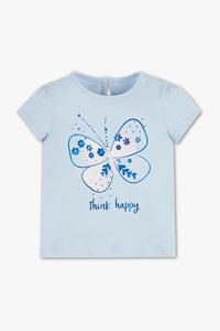 Baby Club         Baby-Kurzarmshirt - Bio-Baumwolle - Glanz Effekt
