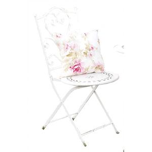 casaNOVA Bistro Stuhl Metall weiß