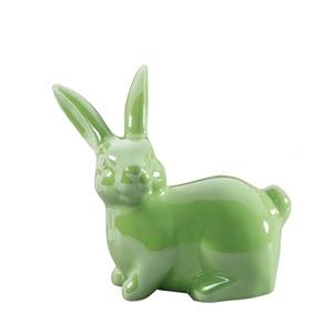 casaNOVA Deko Hase 12 cm Dolomit grün