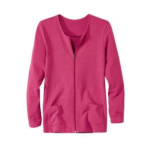 Laura Torelli Classic Damen-Jerseyjacke in angesagtem Pink