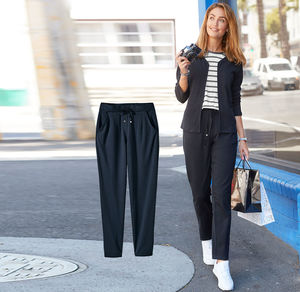 Laura Torelli Classic Damen-Joggpants mit Zugband