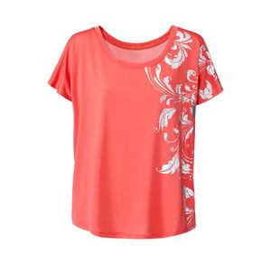 Damen-Fitness-T-Shirt mit floralem Druck