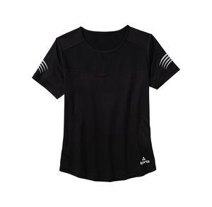 Damen-Fitness-T-Shirt mit reflektierendem Logo