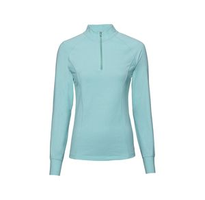 Damen-Fitness-Shirt mit reflektierender Paspel