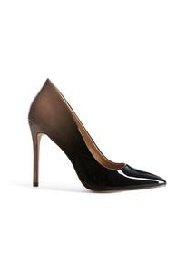 Black Ombre Court Heel