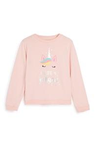 Sweatshirt mit Einhorn (kleine Mädchen)