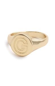 "Goldfarbener Ring mit Initiale ""G"""