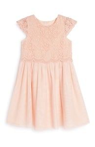Rosafarbenes Häkelkleid (kleine Mädchen)