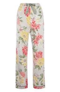 Pyjamahose mit Blumenmuster