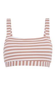 Strukturiertes Bikinitop mit Streifen