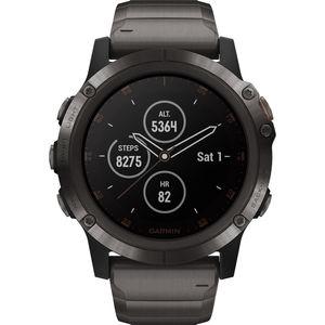 "Garmin Herren Smartwatch fenix® 5X Plus Sapphire DLC Titanium ""010-01989-05"""