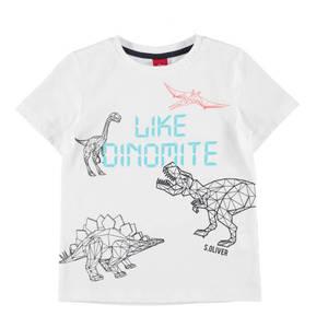 s.Oliver             T-Shirt, reine Baumwolle, Print, Rundhalsausschnitt, für Jungen