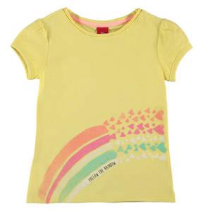 s.Oliver             T-Shirt, reine Baumwolle, Print, Herzen, Glitzer, für Mädchen