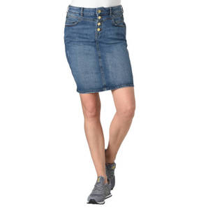 ESPRIT             Rock, Jeans, Knopfleiste, Taschen, Used Look