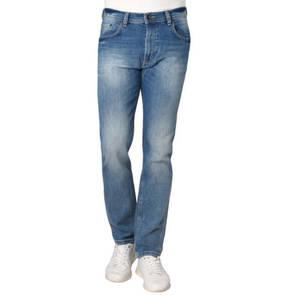 bugatti             Jeans, Regular Fit, Waschung, Falten-Optik, Stickerei, Stretch