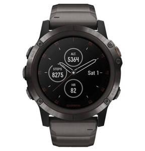 """GARMIN             Smartwatch """"fenix 5X Plus Sapphire DLC"""" 010-01989-05"""